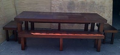 Patio table Farmhouse series 2500 Combo 2 Stained