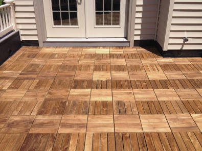 Interlocking Teak Wood Deck Tiles