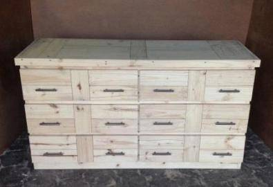 Chest of drawers Farmhouse series 1600 Raw