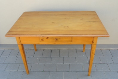 Antique Yellow Wood Table Junk Mail