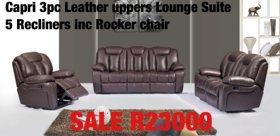 Leather Recliner loung suites and Dinings