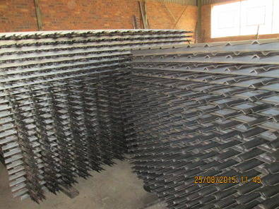 Building, Construction and Renovation Steel palisade fencing.