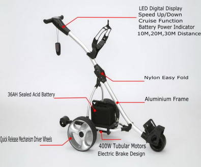 Electrical 200w Golf Trolley - Boxed Brand new with 6 month guarantee