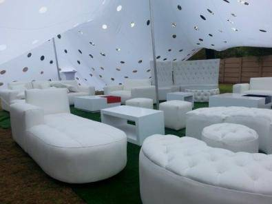 White Event Couches Stretch Tents For Hire Junk Mail