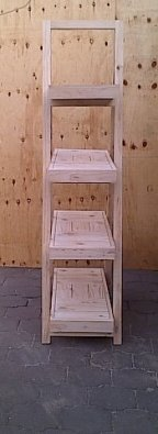 Trestle shelving Single A Frame 4 tier 2000 Farmhouse series Raw