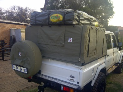 Cruiser cattle frame and ripstop canvas canopy