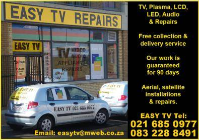 EASY TV  Cape Town. We repair all makes of tvs pla