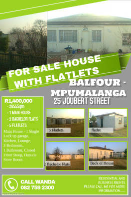 House, Bachelor Flat & Flat-lets for Sale