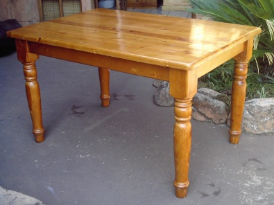 6 Seater Oregon Pine Dining Kitchen Table