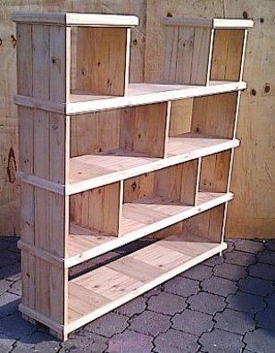 Bookshelf Farmhouse series 1625 Raw