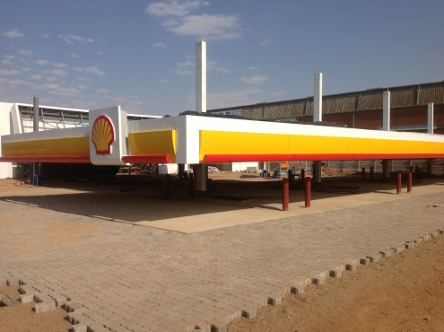DIY AND ERECTUEL FUEL  station canopies SA AND AFRICA