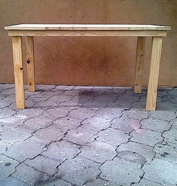 Kitchen table Cottage series 1400 Clear varnished