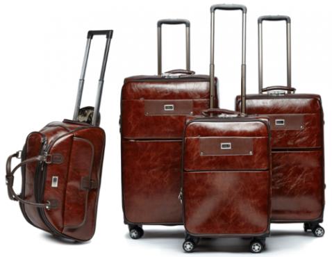4 Pcs PU Leather luggage set