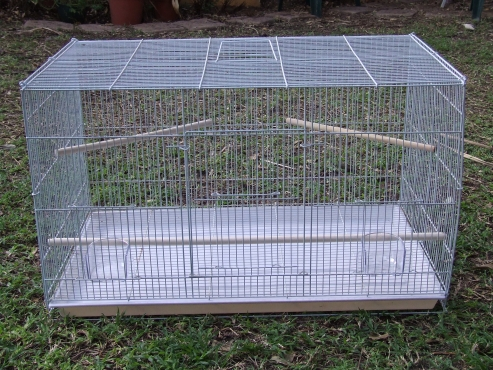 Foldable bird cage.