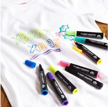 8 high quality, permanent fabric markers