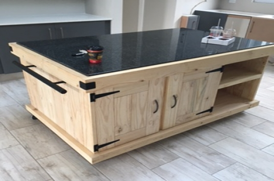 Kitchen island farmhouse elegant series 1600 granite top for Kitchen island gauteng