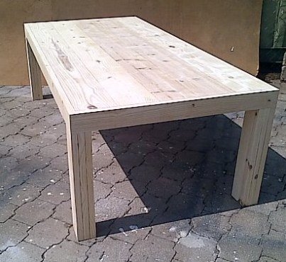 Patio table Chunky Farmhouse series 2700 Raw