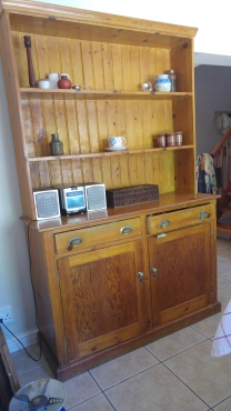 Antique oregon pine dresser