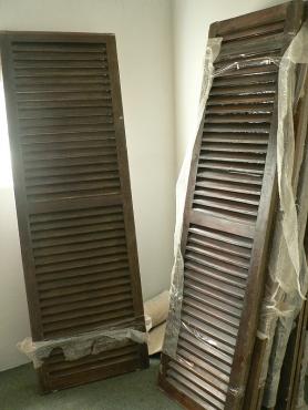 13 X Teak wood shutters