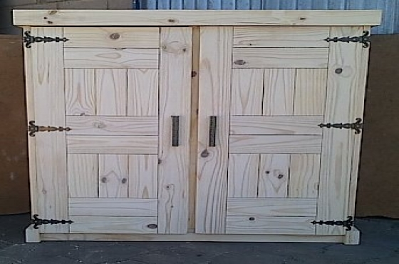Kitchen Cupboard Farmhouse series Free standing 1300 Raw