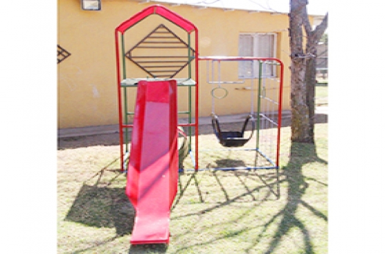 Jungle Gym, Slide, Canopy, Swing, Monkey Bars