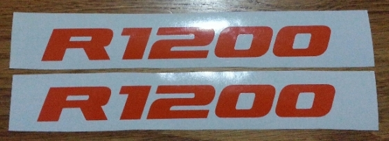 Pair of BMW R1200 LC Beak decals stickers graphics