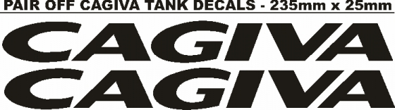 Pair off Cagiva tank decals stickers graphics