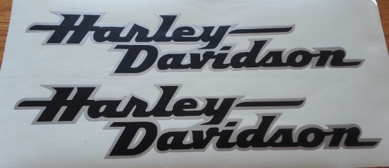 Harley Daidson tank and fairing graphics decals stickers | Junk Mail