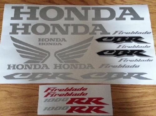 Honda CBR 600 RR decals stickers graphics sets