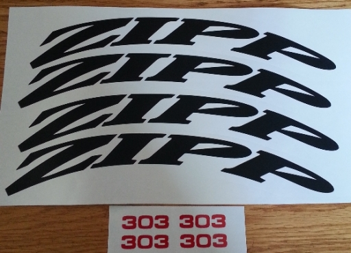 ZIPP wheel rim decals stickers graphics kits