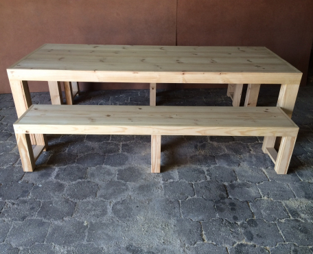 Patio table Chunky Farmhouse series 2500 Combo 3 Sealed