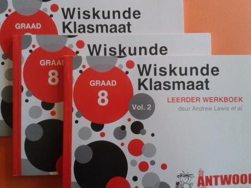 Wiskunde Klasmaat - Leerder Werkboek Vol 2,3,4 - Graad 8 - Andrew Lewis - Nuwe Boeke.