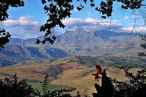 Drakensberg -- Drakenzicht self-c Mountain lodge Champaign Castle