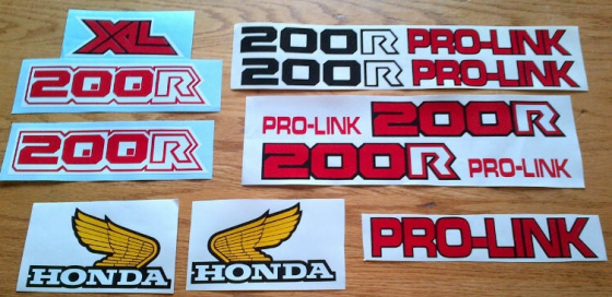 Honda Xr And Xl Decals Stickers For Early 1980 S