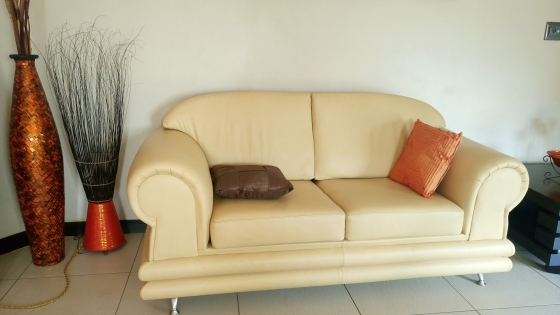 Complete Full Leather Lounge Suite for Sale