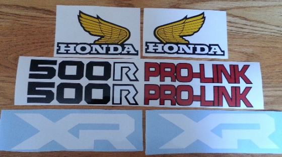 Honda XR and XL decals stickers for early 1980's motorcycles
