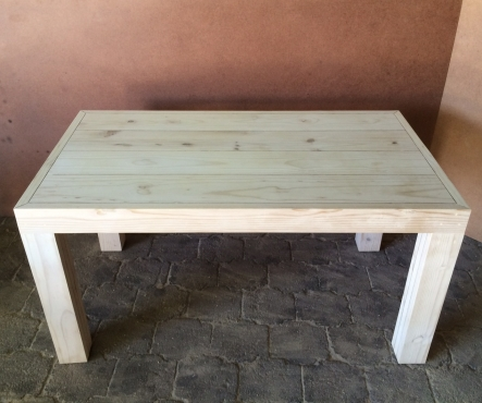 Patio table Chunky Farmhouse series 1500 Raw