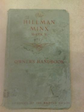 Hillmann Minx 1951: Owners manual