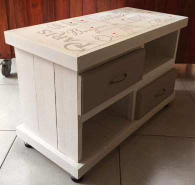 Coffee table Farmhouse series 850 with drawers French Cottage style