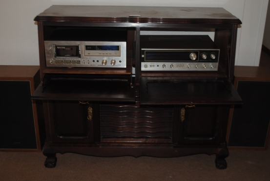Antique Hi Fi cabinet with working Pioneer valve amp   Junk Mail