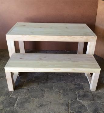 Patio table Chunky Farmhouse series 1500 Combo 1 Raw