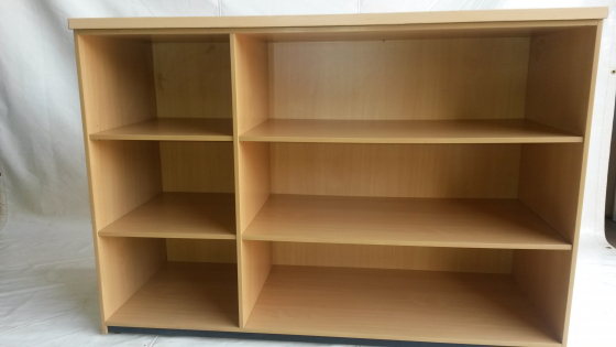 Beechwood open bookshelf