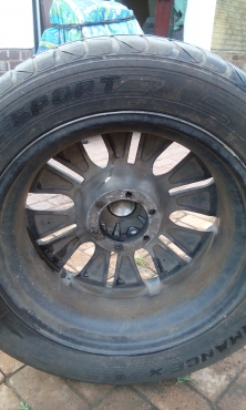 Mag rim and tyre 20inch