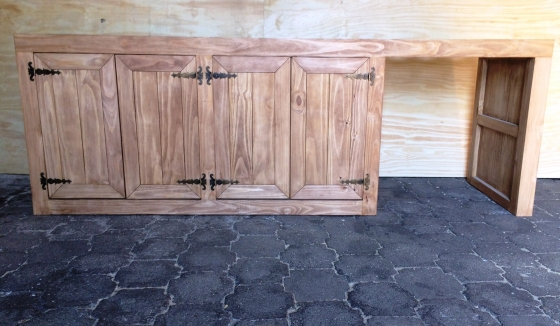 Kitchen Cupboard Base unit Farmhouse series 2500 Stained