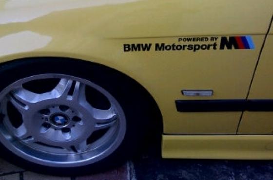 Pair off BMW Motorsport graphics