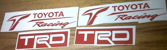 Toyota TRD Off Road decals stickers graphics