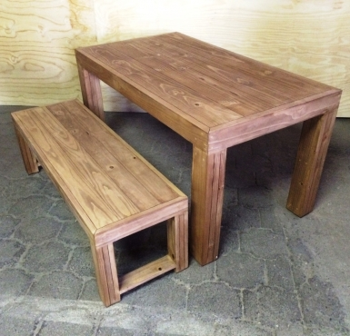 Patio table Chunky Farmhouse series 1500 Combo 1 Stained