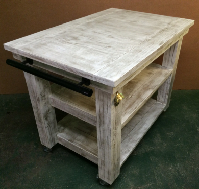 Butchers Block Chunky Cottage series 1100 mobile Weathered look