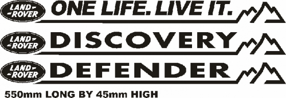 Land Rover decals stickers graphics