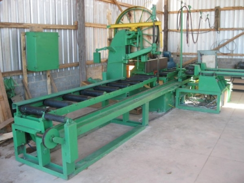 Sawmill: Breakdown: DANCKAERT – MEM, Vertical Breakdown Bandsaw with Log Carriage